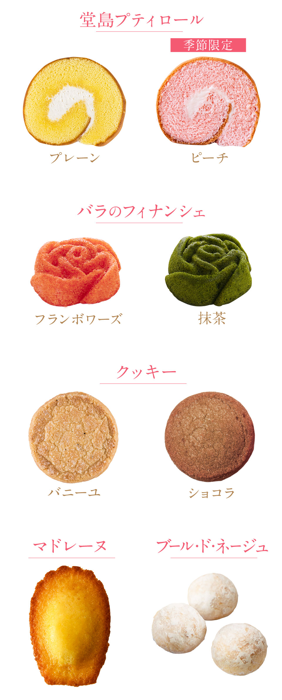焼き菓子の種類